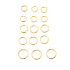 30PCs Stainless Steel Gold Tone Open Jump Rings