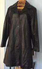 Harve' Bernard Black Leather Coat Jacket  4 button Classic Style, Lt weight $165