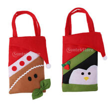 Christmas Gift Bags Candy Stocking Xmas Hanging Decor Bear Penguin Design