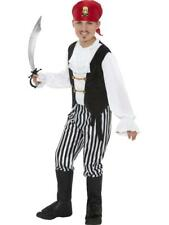 Boys Pirate Fancy Dress Costume Black & white all sizes