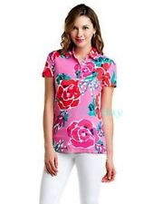 88.00 NWT LILLY PULITZER TROPHY POLO HOTTY PINK JUST LOVE  SZ MED CLASSIC