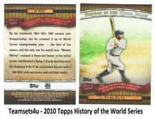 2010 Topps History of the World Series Baseball Set ** Pick Your Team **