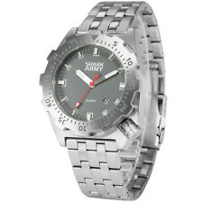 SHARK ARMY Men's Stainless Steel Band Quartz Date Day Display Sports Wrist Watch
