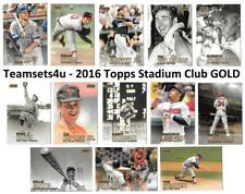 2016 Topps Stadium Club GOLD Baseball Set ** Pick Your Team **