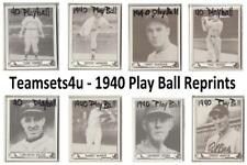 1940 Play Ball Reprints Baseball Set ** Pick Your Team **