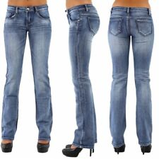 Womens Quality Stretch Denim Bootcut  Jeans light Blue faded 6 8 10 12 14 16 18