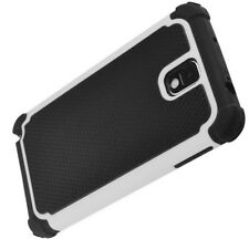 Samsung Galaxy Note 3 III Heavy Duty Case Cover White and Black