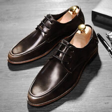 Leather Oxfords US6-US9 Non-Slip Business man Comfy Office shoes Wedding Shoes D