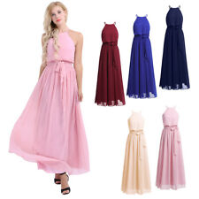 Womens Dress Party Evening Chiffon Long Cocktail Prom Bridesmaid Gown Cocktail