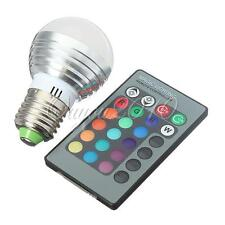 3W RGB E27 E14 GU10 LED 16 Colors Changing Lamp Light Bulb IR Remote Control