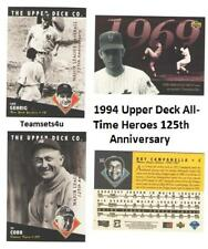1994 Upper Deck All-Time Heroes 125th Anniversary Sets ** Pick Your Team Set **