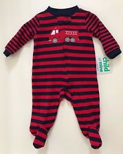 Child Of Mine by Carter's Baby Boy Footed Firetruck Sleeper Preemie-Newborn NEW