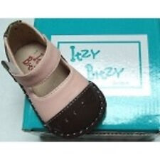Itzy Bitzy Size 2 Pink & Brown Infant Girl Mary Jane Shoes - New