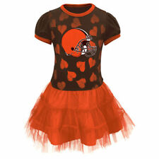 Cleveland Browns Girls Toddler Brown Love To Dance Tutu Dress - NFL