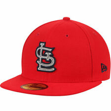 New Era St. Louis Cardinals Red Flected Team Fitted Hat - MLB