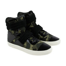 Radii Cylinder Mens Black Leather & Textile High Top Lace Up Sneakers Shoes