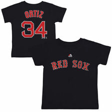 Majestic David Ortiz Boston Red Sox Toddler Navy Player Name and Number T-Shirt
