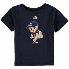 Majestic Milwaukee Brewers Infant Navy Baby Mascot T-Shirt - MLB