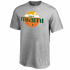 Fanatics Branded Miami Hurricanes Youth Heather Gray Only In Miami T-Shirt