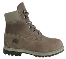 Timberland AF 6 Inch Prem Womens Boots Grey Leather Lace Up Casual 42643 D34
