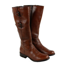 Clarks Mullin Spice Womens Tan Leather Casual Dress Strap Boots Shoes