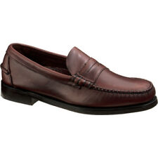 Sebago Classic Mens Footwear Slip Ons - Brown Oiled Waxy Leather All Sizes