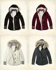 NWT Hollister by Abercrombie&Fitch Sherpa Lined Patterned Hoodie Jacket XS S L