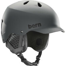 Bern Watts Mips Mens Helmet Ski - Matte Grey ~ Black Liner All Sizes