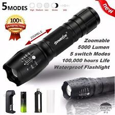 30000LM XML T6 5-Mode Waterproof Zoomable LED Flashlight 18650BTY Torch Lamp New