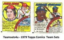 1979 Topps Comics Baseball Set ** Pick Your Team **