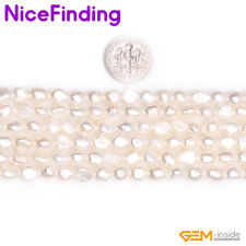 """5-8mm Natural Freeform Freshwater Cultured Pearl Stone Beads Jewelry Making 15"""""""