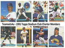 1991 Topps Stadium Club Charter Members Baseball Set ** Pick Your Team **