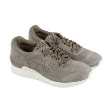 Asics Gel Respector Mens Gray Suede Athletic Lace Up Running Shoes