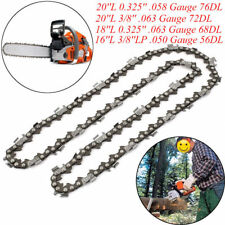 """Chainsaw Saw Chain Blade Replacement for Husqvarna 16""""/18""""/20"""" inch 57 Links Acc"""