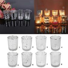 Cup Shaped Tealight Candle Holder Glass Candlestick Wedding Home Ornament Gift