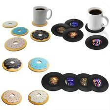 Vinyl Record / Donut Silicone Heat Insulation Coffee Tea Cup Mug Pad Coaster