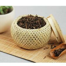 Bamboo Tea Coffee Sugar Canisters Kitchen Storage Jar Vintage Can with Lid