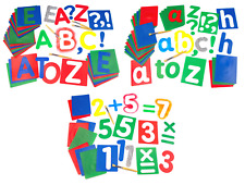 Large Alphabet Letter Stencils Cut Out Templates Upper Lower Case & Numbers 17cm