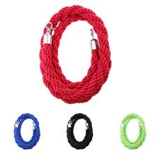2m, 3m Twisted Rope Crowd Control Post Queue Barrier Crowd Control 4 Colors
