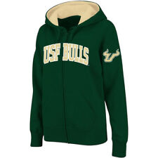 Stadium Athletic South Florida Bulls Women's Green Arched Name Full-Zip Hoodie