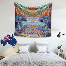 3D Tapestry Tropical Palm Tree Tapestry Surf Wave Mandala Wall Hanging Decor AU