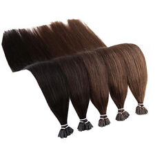 """16"""" ~26"""" Stick I Tip Pre bonded Human Hair Extensions 0.5/1gram FREE Micro Beads"""