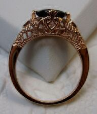 Deco/Victorian Natural Garnet Sterling Silver Filigree Ring Size {Made To Order}