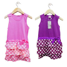 Girls Polka Dot Party Dress Pink or Purple and Assorted Sizes