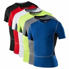 Men Compression Crewneck T Shirt Base Layer Athletic Top Sport Wear Apparel USA