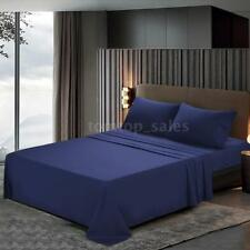 Htovila 4 Piece Bed Sheet Set,Flat,Fitted,Pillowcases Comfortable Bedroom K1Q1