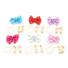 1 Set Jewelry Pearl Necklace Earrings for Barbie Dolls Plastic Accessories JR