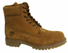 Timberland 6 Inch Premium Mens Lace Up Brown Suede Leather Boots A1M9U D129