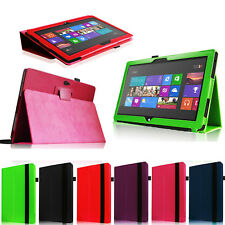"""For Microsoft Surface 2 Surface RT 10.6"""" PU Leather Case Folding Stand Cover"""