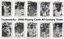 2000 Playing Cards All-Century Team Baseball Set ** Pick Your Team **